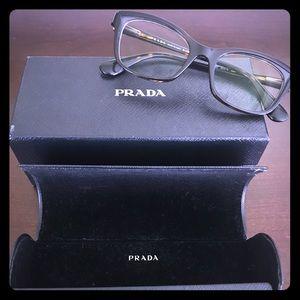 Prada Tortoiseshell Glasses Frames - Authentic